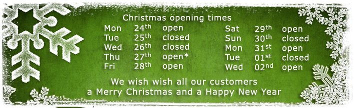 Christmas 2012 opening times banner