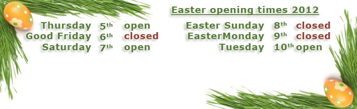 easter 2012 opening times banner
