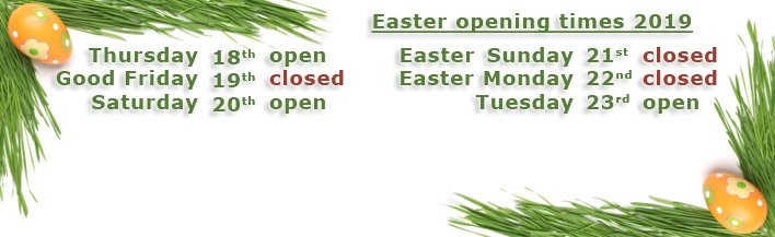 Easter 2019 - opening times - banner