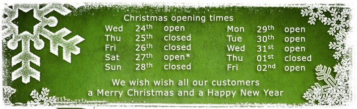 christmas 2014 opening times banner