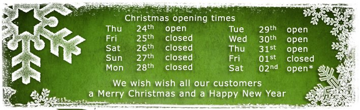 Christmas 2015 - opening times - banner