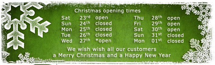 Christmas 2017 - opening times - banner