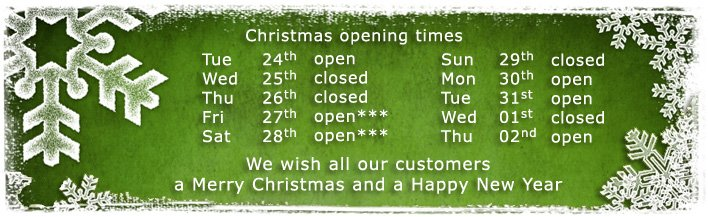 Christmas 2019 - opening times - banner