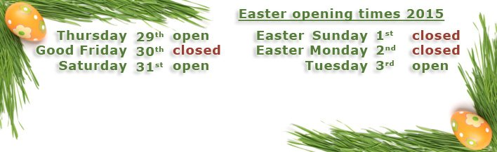 Easter 2018 - Opening times - banner