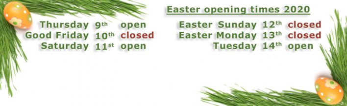 Easter 2020 - opening times - banner