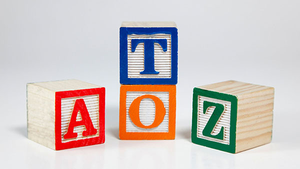 """cube blocks with letters """"A to Z"""""""