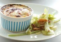 Twice baked cauliflower & gorgonzola soufflés