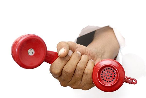 Man pushes phone through